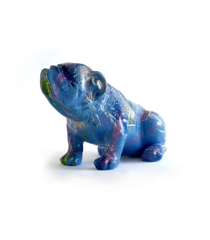 Statue Bouledogue Splash - Animal Decoratif en resine - 53 x 29 x 35 cm Description du modèle :Bulldog français, assis, multicolore avec éclaboussures de peinture, finition laquée et vernieCaractéristiques :Référence du modèle: ART115Marque : AnimartdecoDimensions : 53 x 29 x 35 cm (Longueur x hauteur x largeur)Poids : 4,20Kg