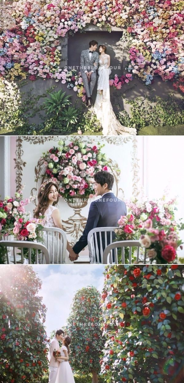 Burst Of Colours Abound In This Floral-Themed Korean Studio Pre-wedding Photoshoot - May Studio, Colourful, Flower, Outdoors, Trees, Romantic, Lovely