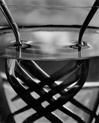 """""""Two Forks Under Water"""" by Abelardo Morell. I like the line and value used in this photo, as well as the way light is reflected in it."""