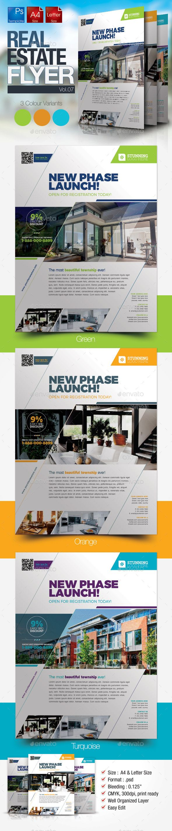Epic Simple Real Estate PSD Flyer Template • Only available here ➝ http://graphicriver.net/item/simple-real-estate-flyer-vol07/10199951?ref=pxcr