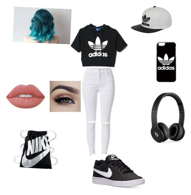 Adidas and Nike look by caitlinashworth60 on Polyvore featuring polyvore, adidas, NIKE, Beats by Dr. Dre, Lime Crime, fashion, style and clothing