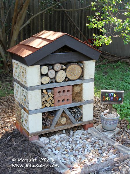 Wildlife Project: Building an Insect Hotel Make a place for your own pollinators to live.