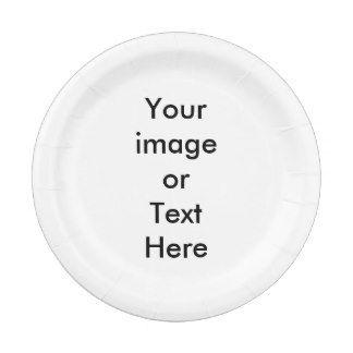 Custom Paper Plates 7 Inch Paper Plate