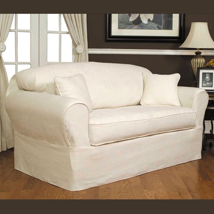 Amazing Sure Fit Matelasse Sofa Slip Cover In Natural   Beyond The Rack