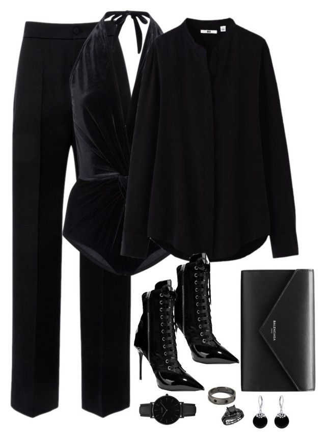 """Untitled #2921"" by theaverageauburn on Polyvore featuring Lanvin, Karla Colletto, Uniqlo, Giuseppe Zanotti, Balenciaga, CLUSE and Bling Jewelry"