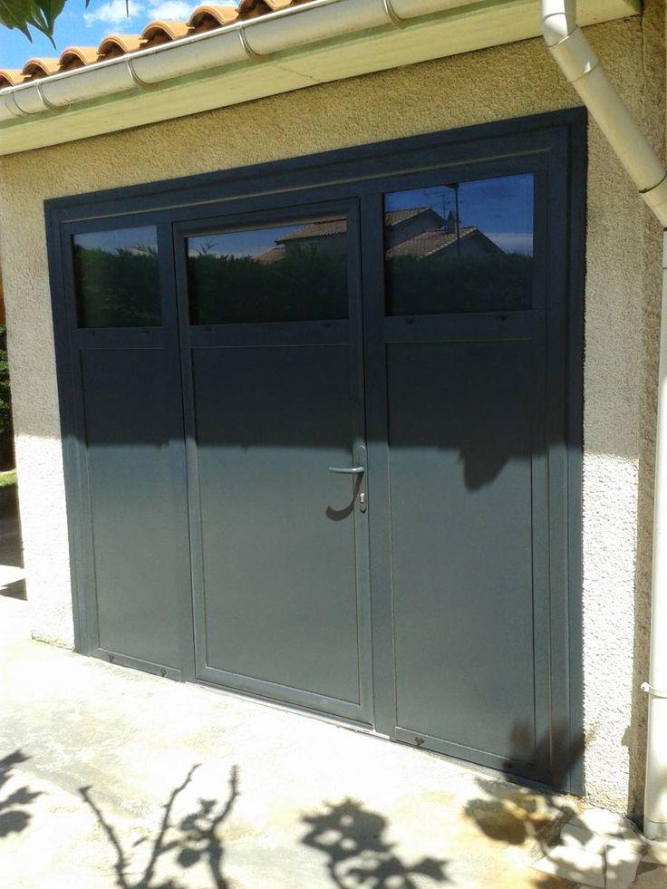 Porte fenêtre en aluminium gris anthracite RAL 7016 réalisée par Eco Fenêtres à Pechbonnieu