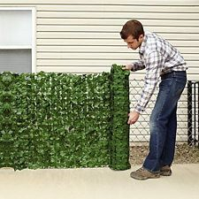 """Faux Ivy Privacy Screen 94"""" X 39"""" For Outdoor Garden Fencing Natural Decor NEW"""