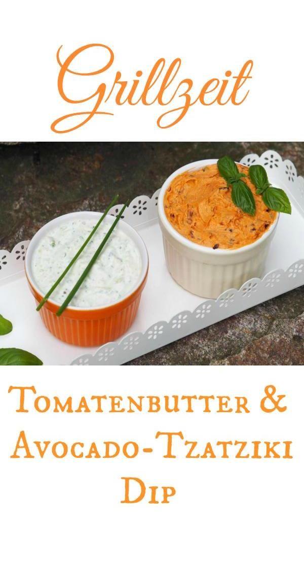Kein Grillen ohne Tomatenbutter & Avocado-Tzatziki Dip. Diese zwei Dips sind furchtbar lecker und schmecken zu Fleisch, Gemüse oder einfach mit leckerem Baguette. Wenn wir mit Freunden und Familien grillen, bleibt davon absolut nichts übrig (sogar die Schälchen werden sorgfältig ausgeputzt). Im Thermomix oder Mixer ganz schnell hergestellt.