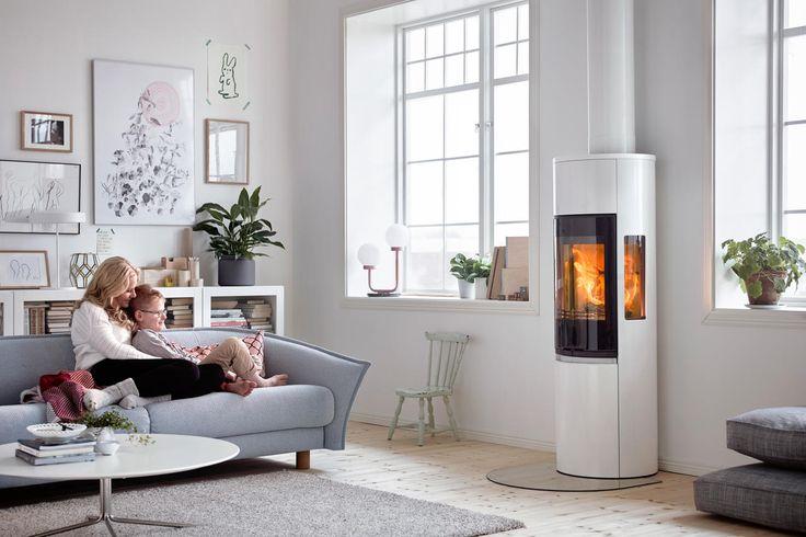 Contura 596G style hvit med glassdør