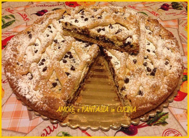 CROSTATA+DI+RICOTTA+E+NUTELLA