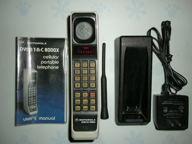 cool Vintage Motorola Dynatac 8000X Thick Brick Analog Cell Cellular Mobile Phone   Check more at http://harmonisproduction.com/vintage-motorola-dynatac-8000x-thick-brick-analog-cell-cellular-mobile-phone/