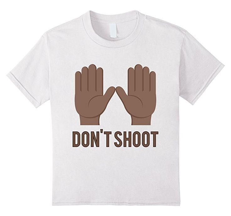 Kids Hands Up Don't Shoot - Black Lives Matter Emoji T-Shirt 6 White