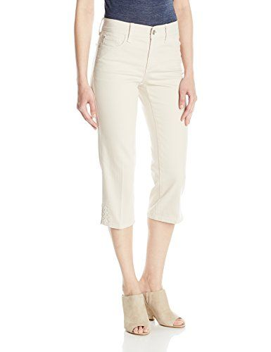 NYDJ Women's Novelty Ariel Crop Jeans, Clay-Hem Embroider...