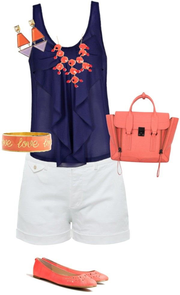 coral and navy...love these colors together!