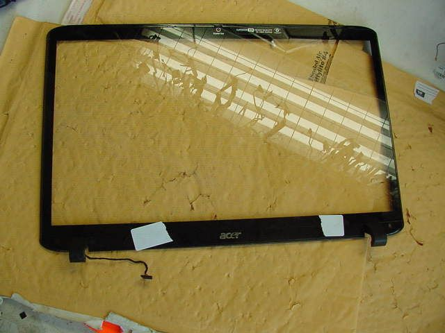 """ACER 8940G FRONT BEZEL PROTECTIVE GLASS j14  FOR 18.4"""" GLASS  FRONT HINGE COVER"""