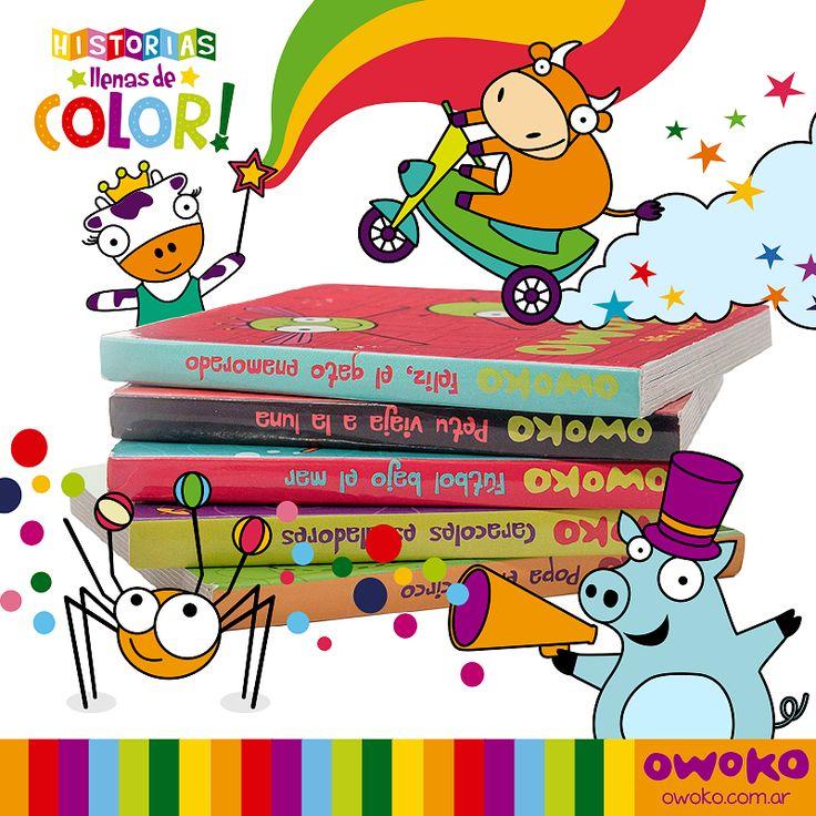 ¡Vos lo estabas pidiendo! Llegaron a nuestros locales más historias llenas de color. ¡Seguí coleccionando las divertidas aventuras de Los Owokos y sus amigos! [http://bit.ly/1keSjiR]