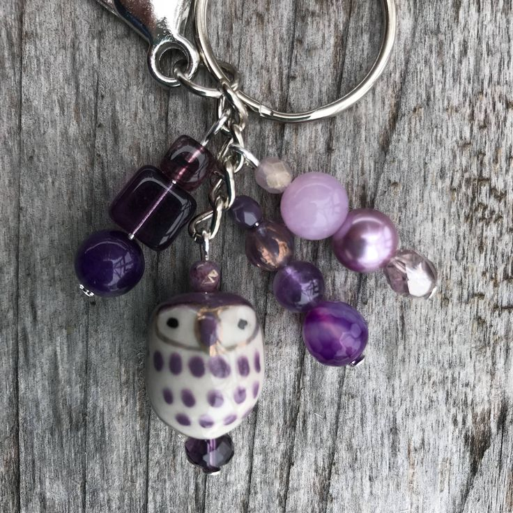 Keychains for Women, Owl Keychain, Owl Bag Charm, Owl Gifts, Purse Charms for Handbags, Beaded Keychain, Bookbag Charm, Beaded Bag Charm by SecretGardenByLaura on Etsy