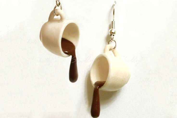Fun Coffee Cup Polymer Clay Earrings Tutorial - The Beading Gem's Journal