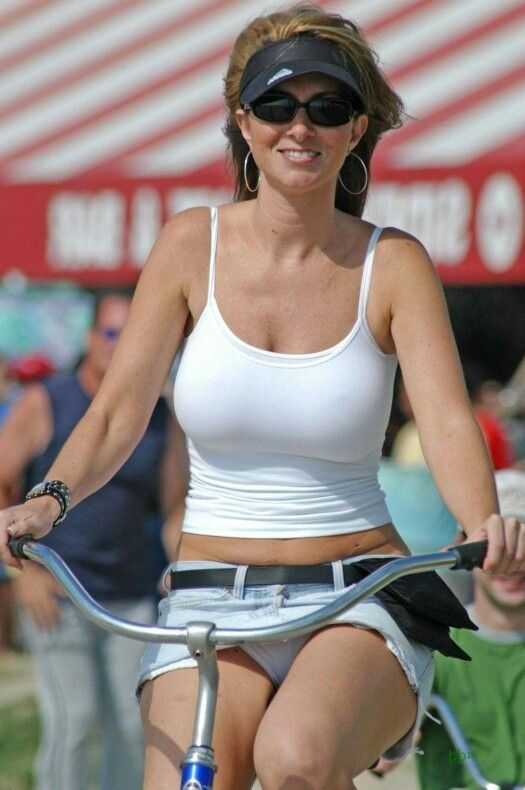 sexy girl with bikes on miniskirt