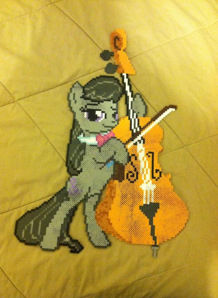 MLP Big Octavia Cello perler beads by dorkking12