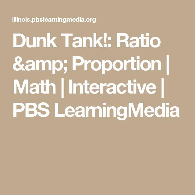 Dunk Tank!: Ratio & Proportion | Math | Interactive | PBS LearningMedia