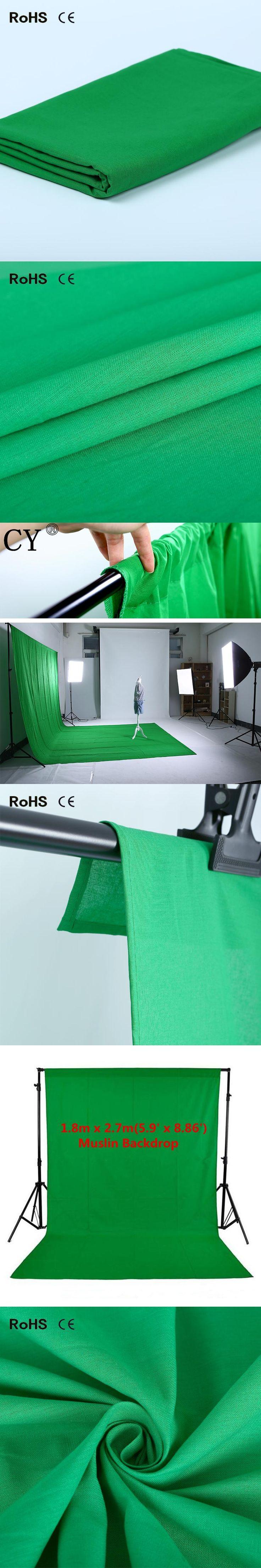 New Photo studio vedio photography 1.8m x 2.7m Photo Studio Solid Muslin Backdrop Background Green chromakey PSB3C chroma key