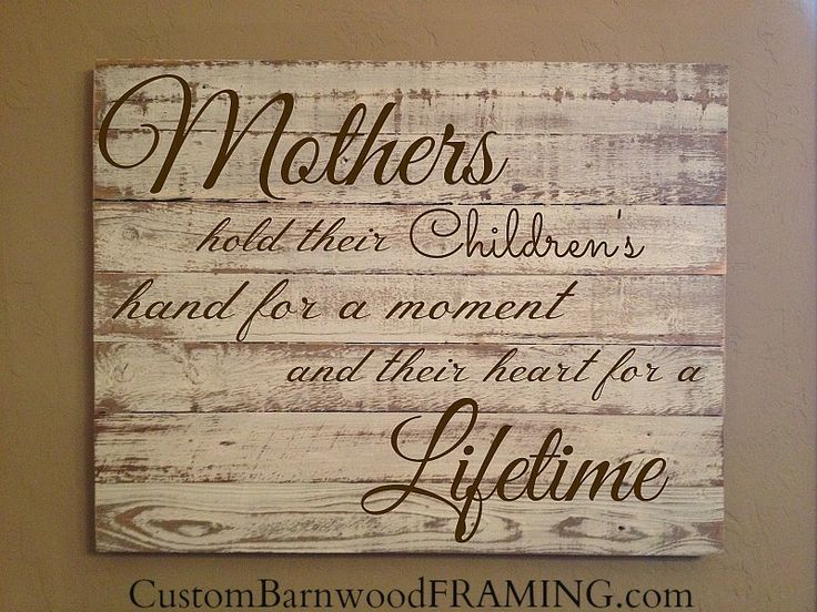 Custom Barnwood Frames - SIGN - MOTHERS HOLD- WHITE WITH BROWN LETTERS, Flash Sale Price $30.99 (http://www.custombarnwoodframing.com/products/sign-mothers-hold-white-with-brown-letters.html)
