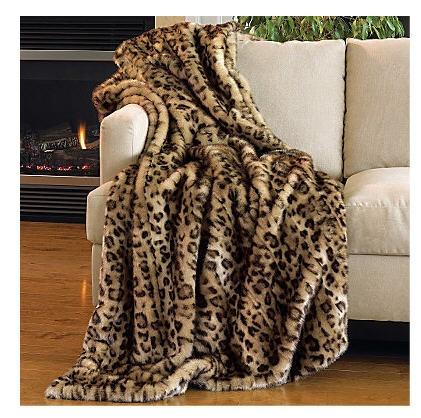 Leopard Throw Rug Home Decor