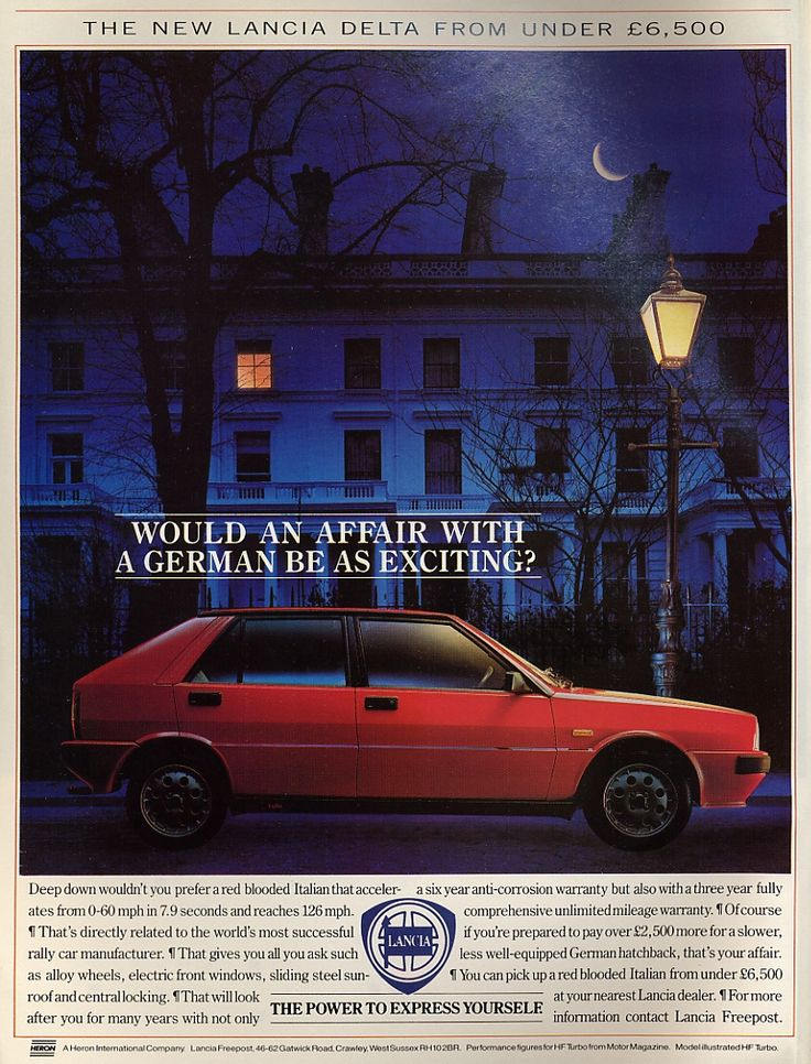 This racy 1987 Lancia Delta lashes out against Ze Germans (read that in a Jason Statham voice).