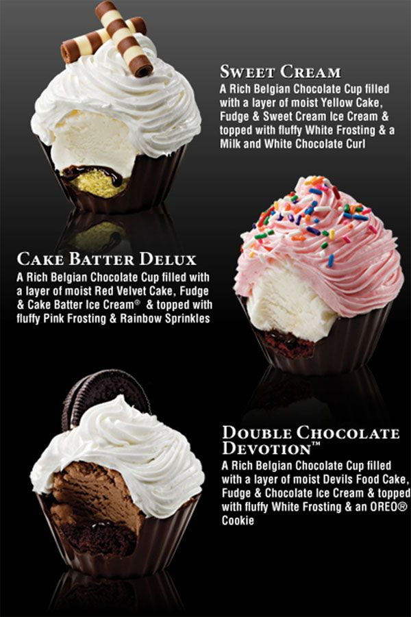 Filled Cupcakes. I know these are Coldstone's but this is your next challenge, @Anna M. I volunteer to help because I love these so much.
