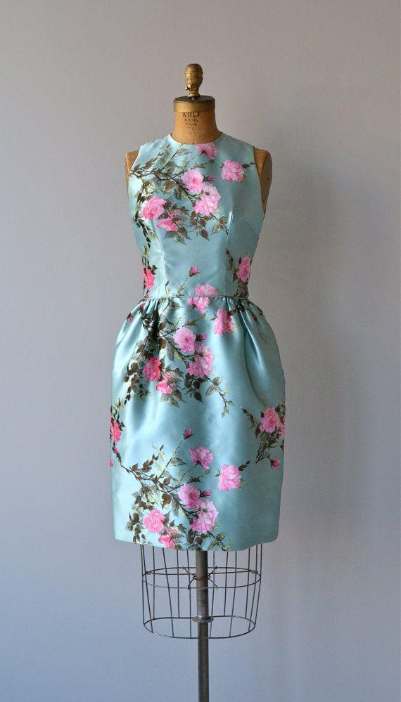 A Waking Dream dress vintage silk 60s dress by DearGolden