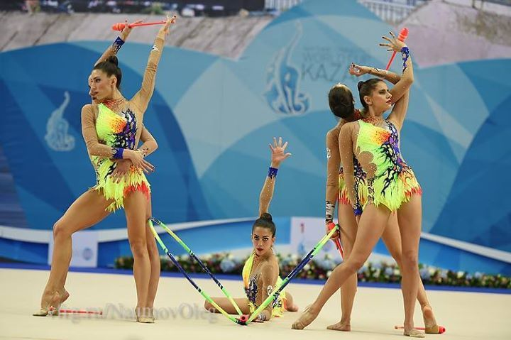 Group SPAIN won BRONZE medal in all-around at World Championships (Stuttgart, Germany) 2015