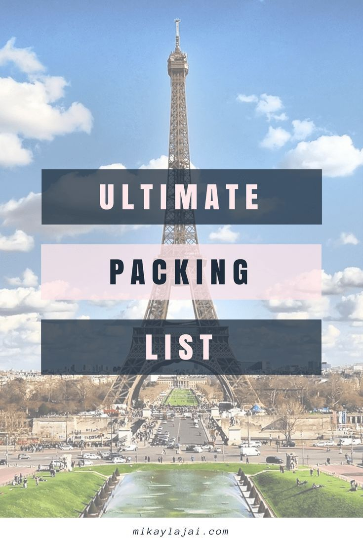 THE ULTIMATE PACKING LIST FOR HOLIDAY TRAVELS IS HERE!