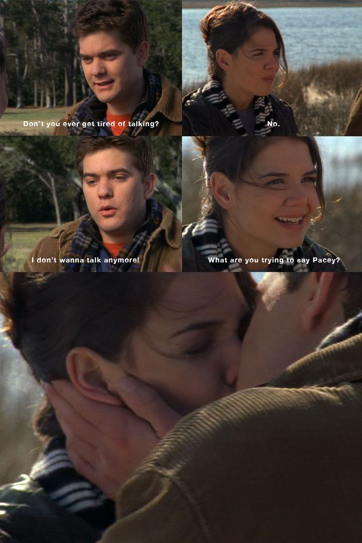 Aaw I remember this! Dawson's Creek - Joey n Pacey first kiss