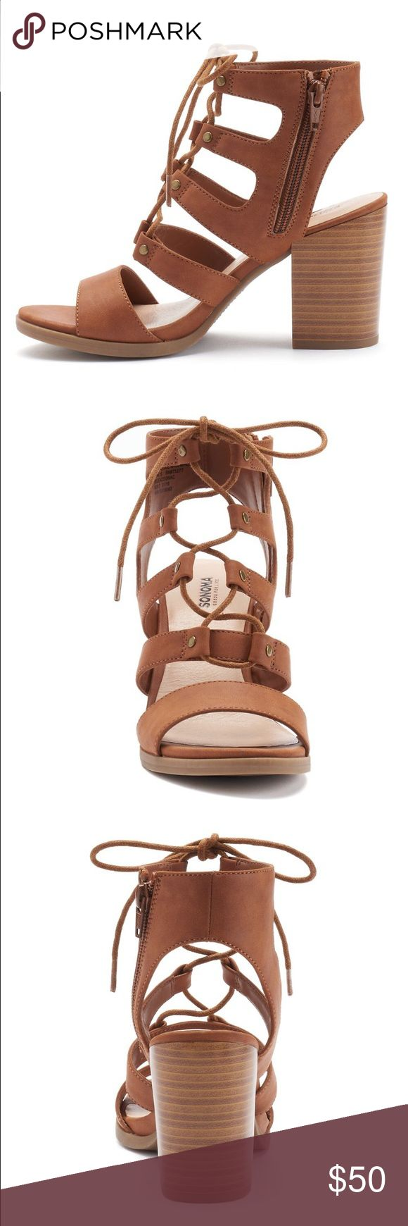 Brown Heel Sandals No trades. Will be shipping with original box. Sonoma Shoes Heels