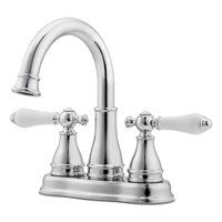 Sonterra Polished Chrome 2-Handle 4-in Centerset WaterSense Bathroom Sink Faucet Drain Included