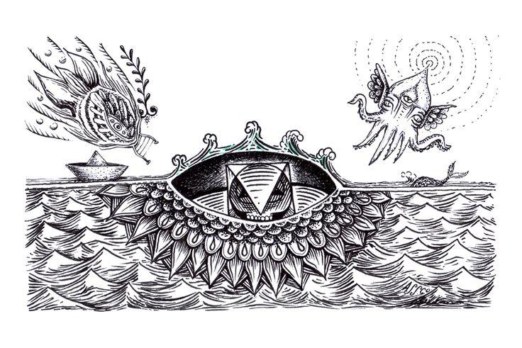 Ship // Nave #creatures #jonassco #illustration #ink