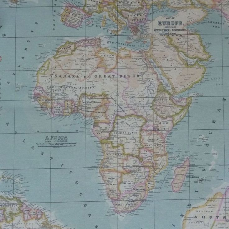 World Map Extra Wide French Acrylic Oilcloth This Is Based On An