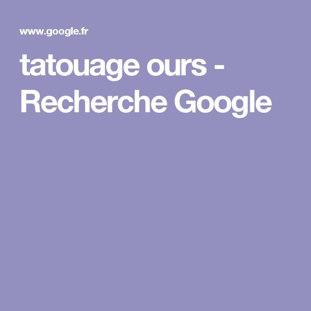 tatouage ours - Recherche Google