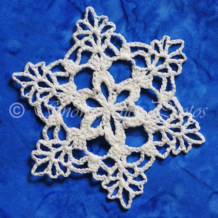 Free Crochet Snowflake Potholder Pattern : How To Crochet Snowflake Pattern For Free Apps Directories