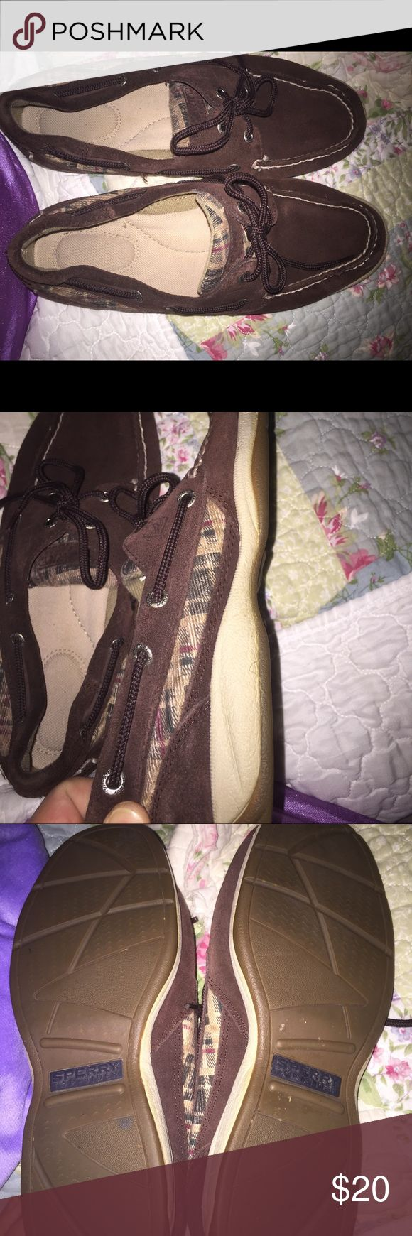 Ladies Sperry Topsider Up for sale is a nice pair of Ladies sz 9 chocolate brown suede Sperrys, only tried on around house. Exc condition. Sperry Top-Sider Shoes Flats & Loafers