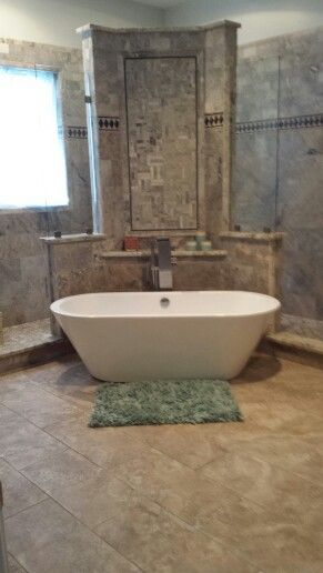 Walk Through Shower Free Standing Bathtub Waterfall Bath Filler With Sprayer Don T Forget To Loo My Own Creations One Of A Kind By Heather