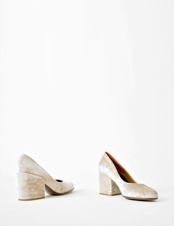 Love // Dries van Noten velvet almond-toe pumps at Bird : ShopBird.com