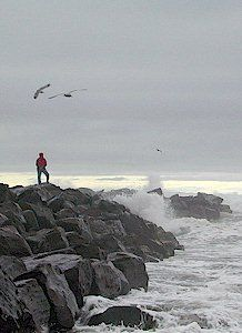Ocean Shores WA, I used to live right here along the jetty. What my friends and I used to do on these rocks is quite shameful...