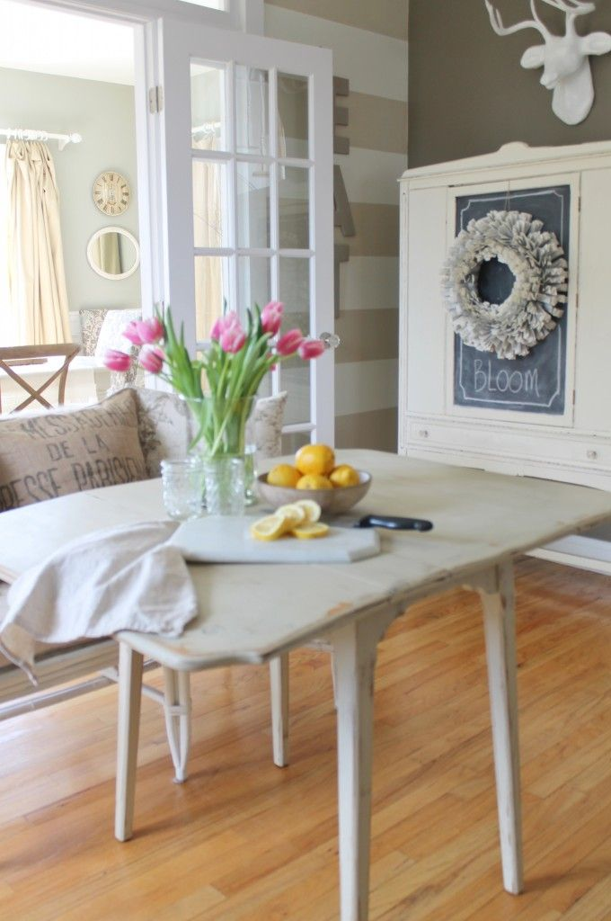 Soft, neutral color palette mixed with textures and vintage items.