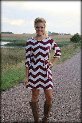 I'm the It girl chevron dress with tie from Filly Flair.  Sweet country style...love this website.