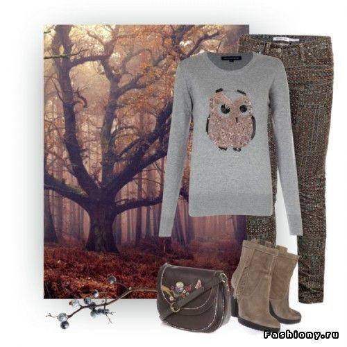 Тренд сезона:свитер с совами / свитер с совой схема