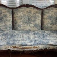 French Provincial Sofa   NJ   West Caldwell   USA   Ready For A Makeover.
