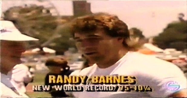 Randy Barnes World Record | 1990 Randy Barnes - World Record. WR shot put 23.12 Westwood, Los Angeles 1990-05-20.