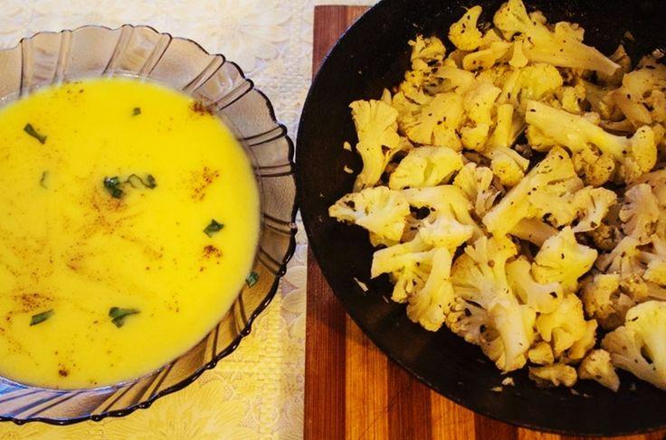 Supă cremă de conopidă (după 1 an)